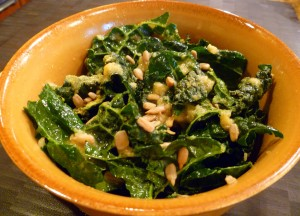 Tahini-Garlic Kale Salad