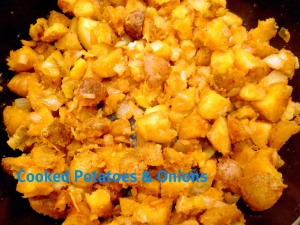 Mexican casserole cooked potatoes