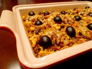 mexican casserole ready