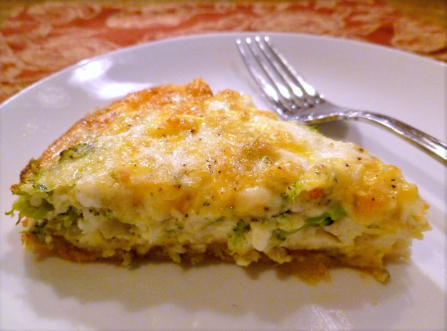 Vegetable Cheddar Quinoa Quiche