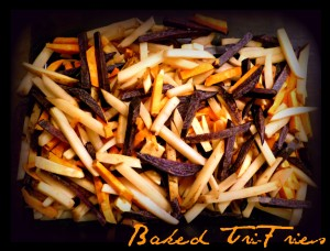 Baked Tri-Fries