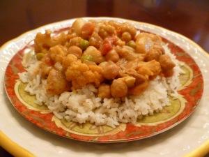 Spicy Potato Cauliflower Curry