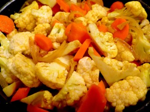 Vegetable Korma cooking