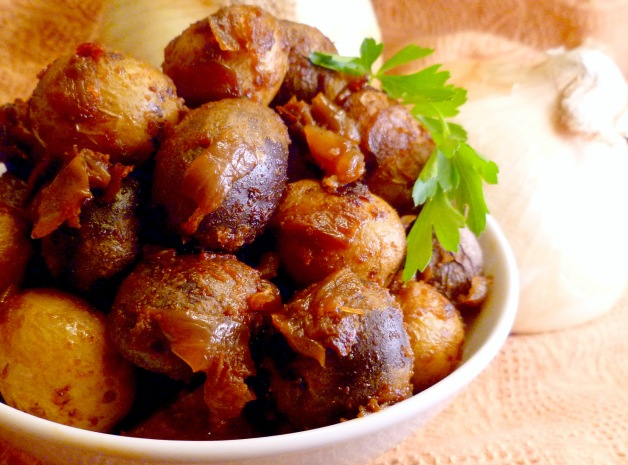 Warm Roasted Baby Potatoes and Onions