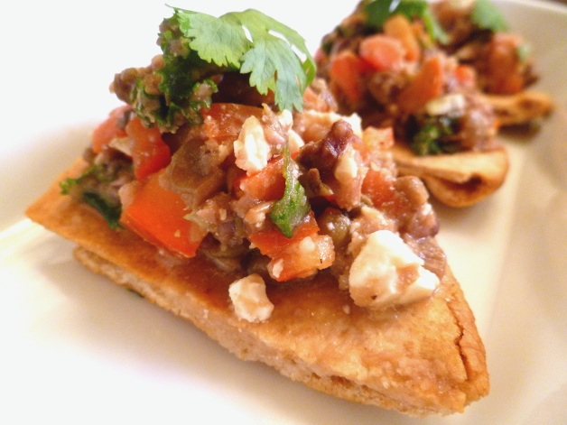 Greek Lentils on Pita