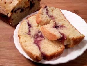 raspberry swirl loaf