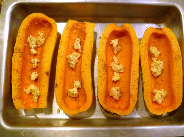 stuffed squash with butter