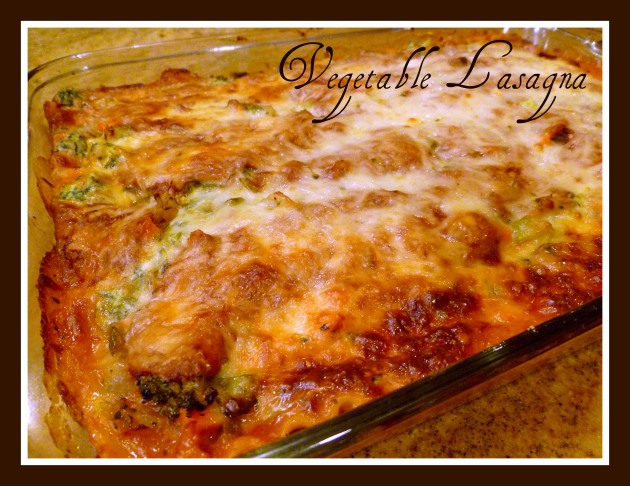 Vegetable lasagna finished