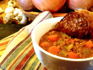 "Lentil and ""Sausage"" Stew"