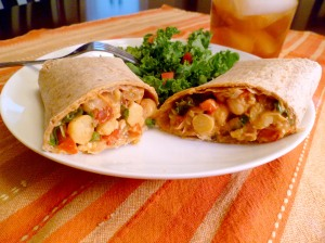 Chipotle Chickpea Wrap