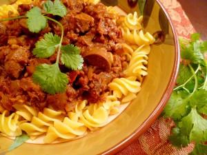 Sundried Tomato & Italian Sausage Pasta-2