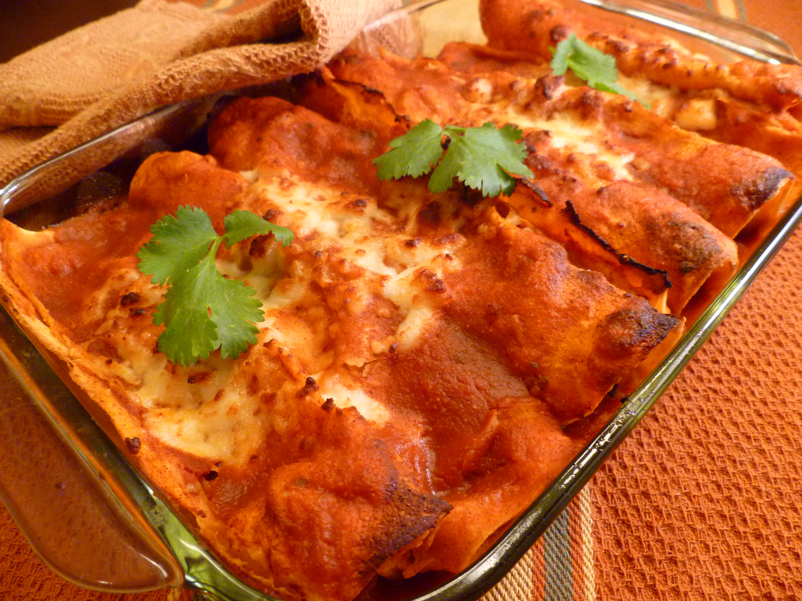 Sweet Potato and Black Bean Chipotle Enchiladas | Vogue Vegetarian