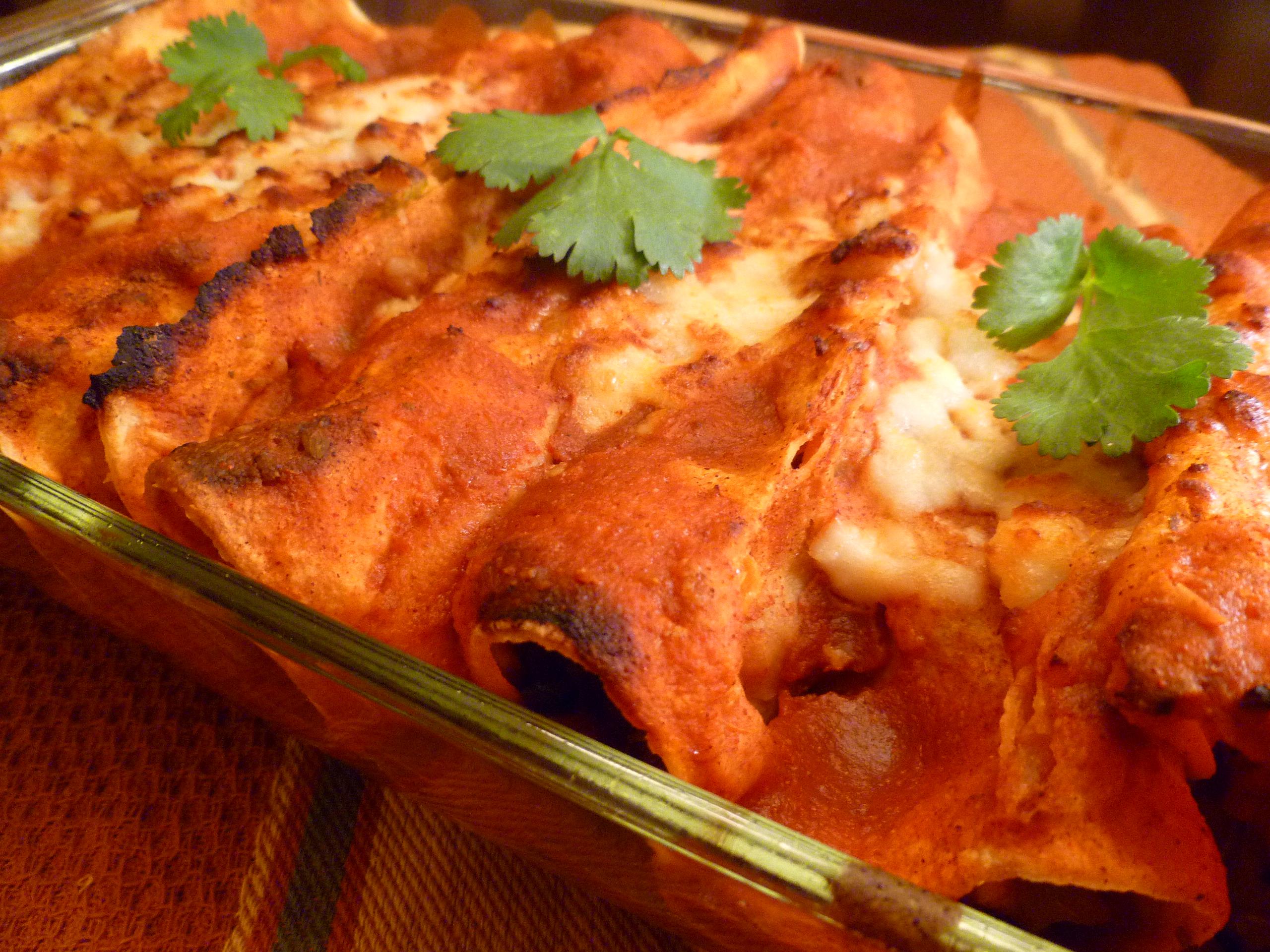 Sweet Potato and Black Bean Chipotle Enchiladas | Vogue Vegetarian