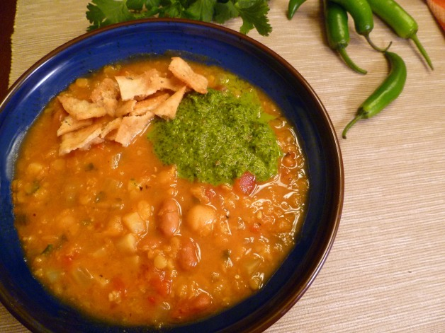 Algerian mixed bean and lentil soup-overview-1