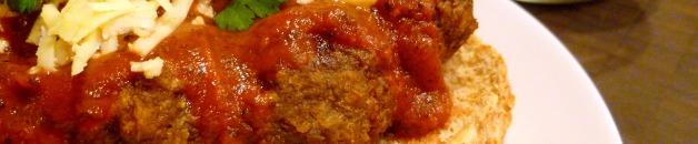 Meatball sub closeup