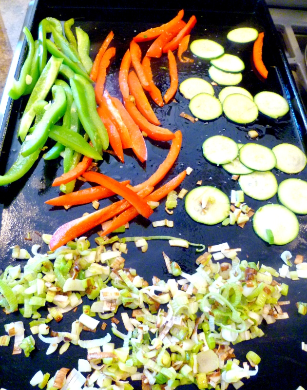Roasted Vegetable Tacos-grill