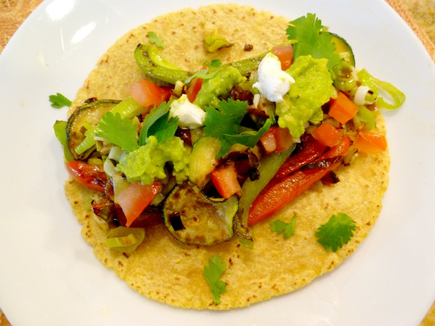 Roasted Vegetable Tacos overhead
