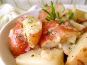 Rosemary Garlic Dijon Red Potatoes close up2