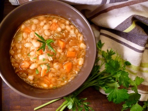 White Bean Rosemary soup