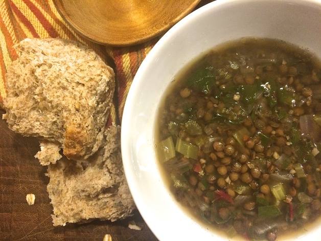 Lentil Soup with Cumin and Chard | VogueVegetarian.com